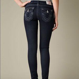True Religion Misty Dark awash Skinny Jeans
